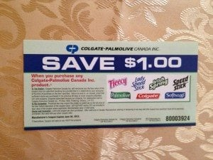 Colgate Palmolive Mail in Coupons upon Request