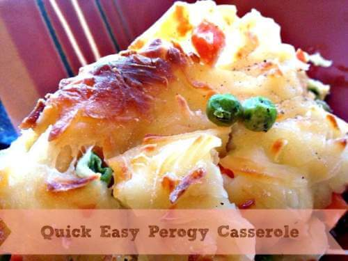 Perogy Casserole Recipe that is Frugal Quick for Busy Nights ( Printable)