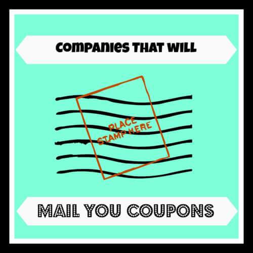 Canadian Companies That Will Mail Coupons