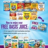 General Mills – FREE Oasis Juice Coupon