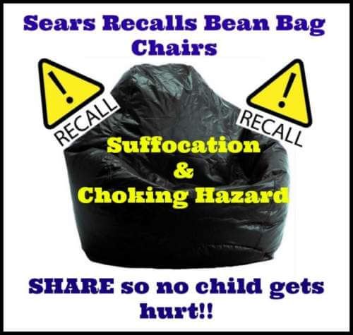 Sears Canada Recalls Bean Bag Chairs