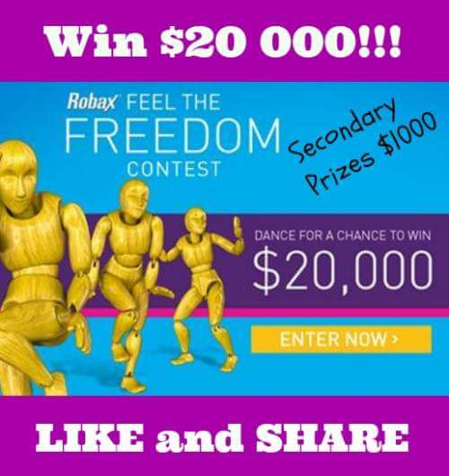 Robax Contest For Canada – Win $20 000 Or 1 of 10 Prizes of $1000!!