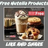 Coffee Culture – FREE Nutella Product With Purchase