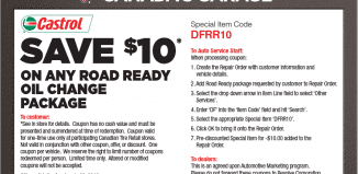Canadian Tire Coupon: Save $10 on Road Ready Oil Change Package Here!!