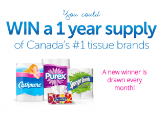 WIN a 1 Year Supply of Bathroom Tissue, Paper Towel and Facial Tissues ~ Enter Every Month