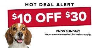 Petsmart Deals – Save $10 OFF when you spend $30