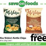 Save On Foods Coupons for Canada – Buy 1, Get 1 FREE – Miss Vickie's Chips