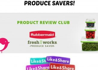 Apply for your Free Rubbermaid FreshWorks Produce Saver Container from Chickadvisor- Go!