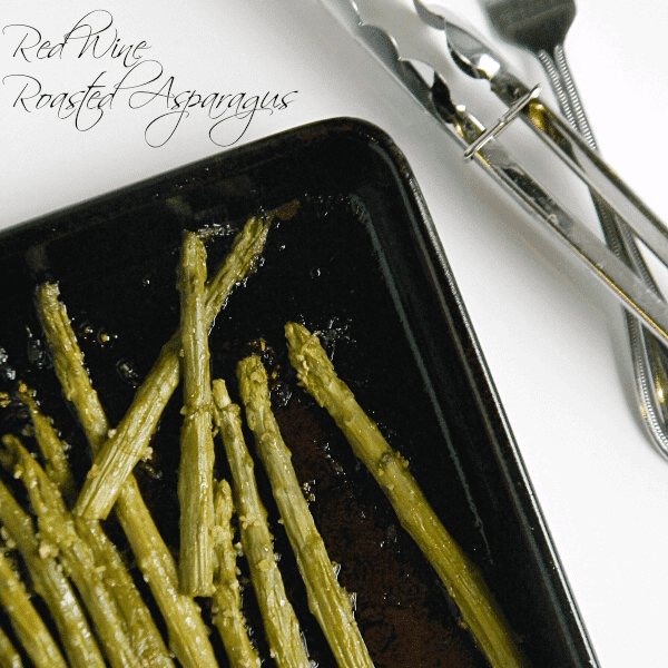 Red Wine Roasted Asparagus